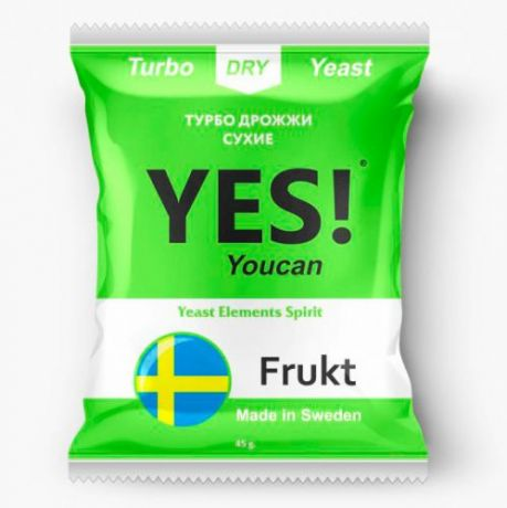 Спиртовые турбо дрожжи YES! YouCan Frukt, 45 г